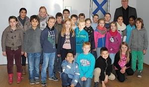 Grundschüler besuchen Bürgermeister Ralf Péus
