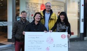 Stadt Arnsberg: C&A spendet 2.000 Euro