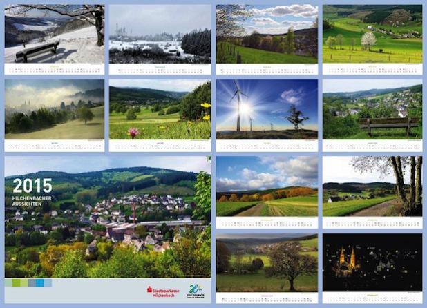 Collage des Fotokalenders 2015 (Quelle: Stadt Hilchenbach)