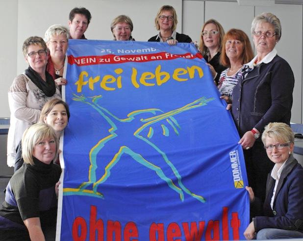Die Gleichstellungsbeauftragten des Kreises Soest setzen sich für die Bekämpfung von Gewalt gegen Frauen ein (Foto: Stadt Lippstadt).
