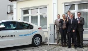 Volksbank Bigge-Lenne installiert erste Ladestation für Elektroautos