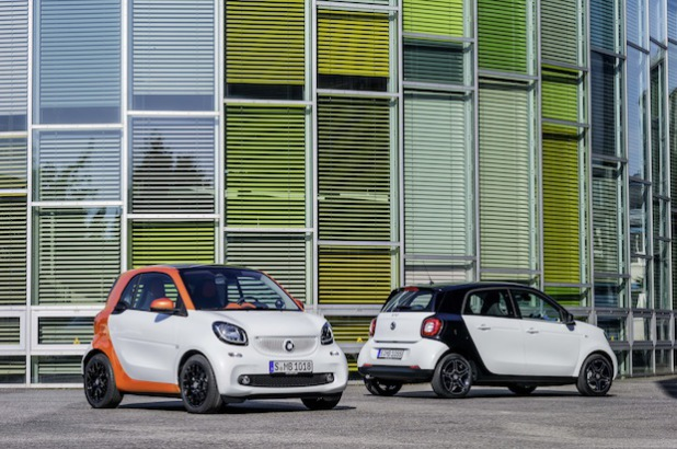 smart fortwo und smart forfour - Foto: ROSIER GmbH & Co. KG