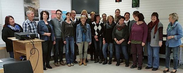 Kinderschutzfachkräfte im Kreis Olpe bei ihrem jüngsten Treffen in der Kolping-Familienferienstätte in Olpe (Foto: privat).