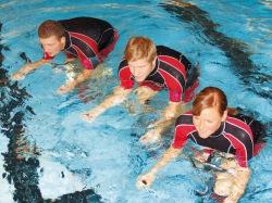 <b>Nasser Fitnesstrend: Aqua-Cycling im Schwimmbad Winterberg</b>