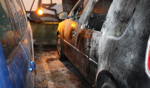Fahrzeugbrand auf Soester Parkplatz