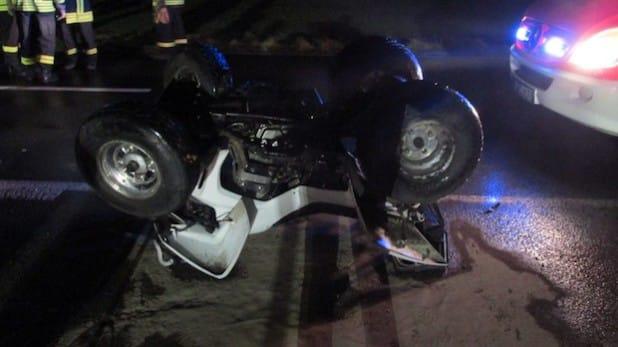 Der Fahrer wurde bei dem Unfall mit Verletzungen in ein Krankenhaus eingeliefert (Foto: Kreispolizeibehörde Soest).