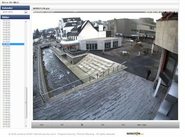 Per Webcam können sich alle Interessierten nun selbst ein Bild über den Fortgang der Arbeiten rund um das künftige Meschede-Center machen (Foto: Stadt Meschede).
