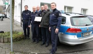 Bürgermeister Paul Wagener besuchte die Polizeistation in Netphen.