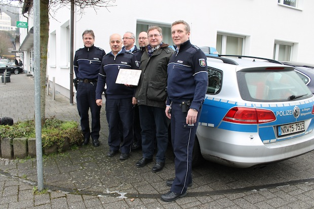 Photo of Bürgermeister Paul Wagener besuchte die Polizeistation in Netphen.