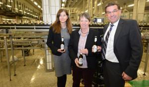 Bundesumweltministerin Dr. Barbara Hendricks besucht Krombacher Brauerei