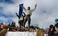 """Sprünge auf Opas """"ollen Latten"""": Nostalgie-Skirennen ist Kult"""
