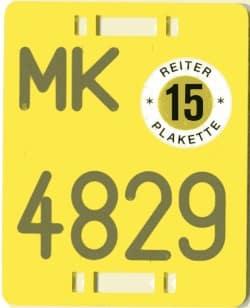 Die Reiterplakette 2015 (Quelle: Märkischer Kreis)