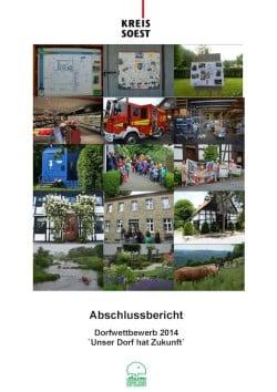 165 Seiten umfasst der Abschlussbericht des Kreiswettbewerbs 2014. Hier die Titelseite (Quelle: Kreis Soest).