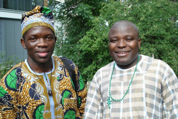 Terrence Ngassa und Dominic Quaye - Quelle: Stadt Menden