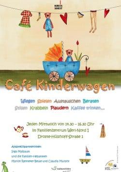 """""""Café Kinderwagen"""" ist das neue Angebot des Kreisjugendamts im Familienzentrum Werl-Nord I (Quelle: Kreis Soest)."""