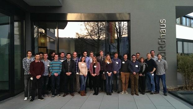 Photo of Stipendiaten der Uni Siegen auf Stippvisite bei Georg