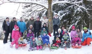 Winterberg: Gruppenfest der roten Gruppe im Schnee