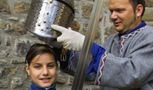 Als Ritter im Wasserschloss Werdringen