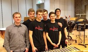 Percussion-Ensemble der Musikschule Drolshagen beim Bundeswettbewerb
