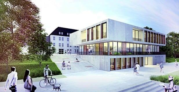 Der Siegerentwurf der Architektenbietergemeinschaft Hengstebeck Architekten und Projektmanagement, Attendorn, und Steimle Architekten, Stuttgart (Quelle: Kreis Olpe).