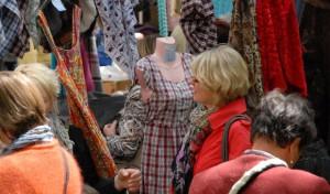 Deutsch-holländischer Stoffmarkt in Soest