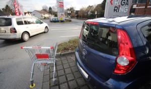 Einkaufszentrum Rigaring: Ankerpunkte für Einkaufswagen