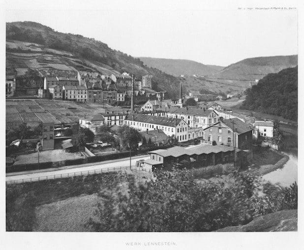 Das Werk Lennestein der Firma Basse & Selve um 1910 (Foto: Kreisarchiv).