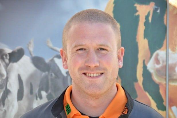 Tobias Beckmann, Mitarbeiter der Service Team Milch GmbH aus Brilon-Thülen (Foto: WFG HSK).