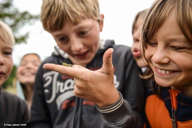 Vom 19. bis 21. Juni findet im CenterParcs Park Hochsauerland die bundesweit erste Kinder-Klimakonferenz statt (Foto: Peter Jelinek/WWF).