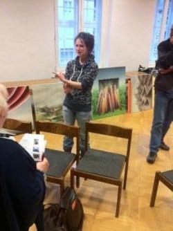 Eilike Schlenkhoff bei ihrer Präsentation - Foto: Werkstatt Altena
