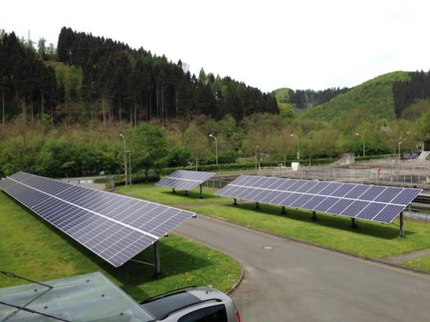 Die Photovoltaikanlage der Kläranlage Werdohl erzeugt pro Jahr rund 50.000 Kilowattstunden Strom (Quelle: Ruhrverband).