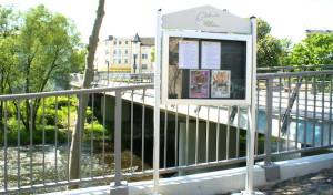 SGV-Abt. Arnsberg: Neuer SGV-Info.Punkt passend zur neuen Klosterbrücke