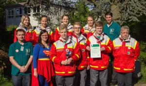 Die Red Angels sind Vizemeister beim Jugendrotkreuz-Landeswettbewerb