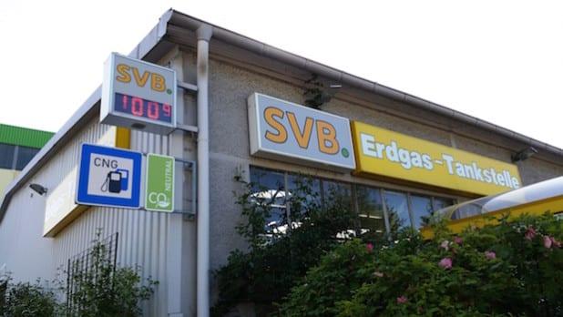 Die SVB-Erdgastankstelle an der Morleystraße bietet ab sofort ausschlißelich CO2-neutrales Erdgas an (Foto: Siegener Versorgungsbetriebe).