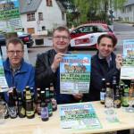 Das Veranstalterteam v.l.n.r. - Torsten Schmale, Sascha Dick, Bernd-Martin Leonidas freuen sich auf die erste Bierbörse Meinerzhagen.