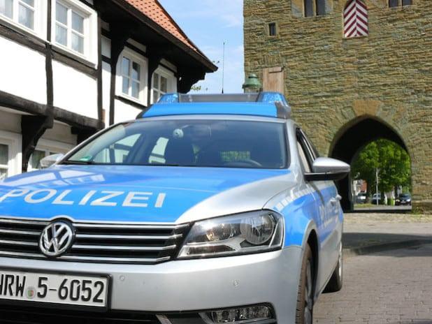 Ein Streifenwagen am Osthofentor - Foto: Kreispolizeibehörde Soest