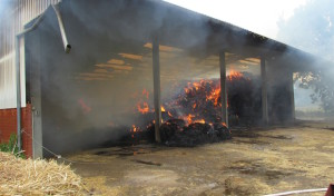 Scheunenbrand in Welver-Vellinghausen-Eilmsen