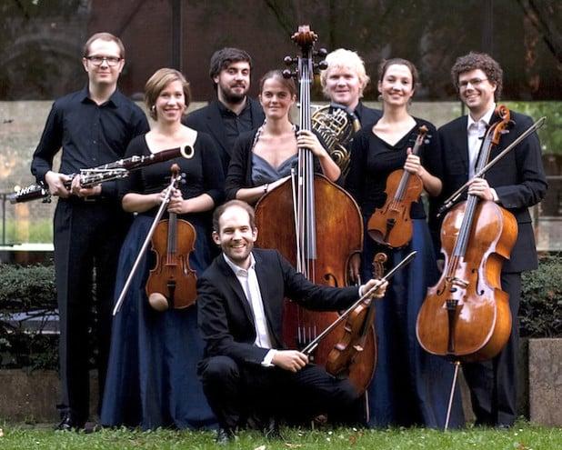Das Amaryllis Quartett sowie Markus Krusche, Daniel Eß, Alexandra Hengstebeck und Daniel Mohrmann (Foto: Kulturgemeinde Bad Berleburg).