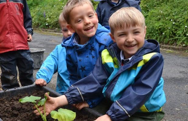 Der Wettbewerb soll den Kindern Spaß machen. Dies beweisen die Kids aus der AWO-Kita Vormwald (Foto: Stadt Hilchenbach).