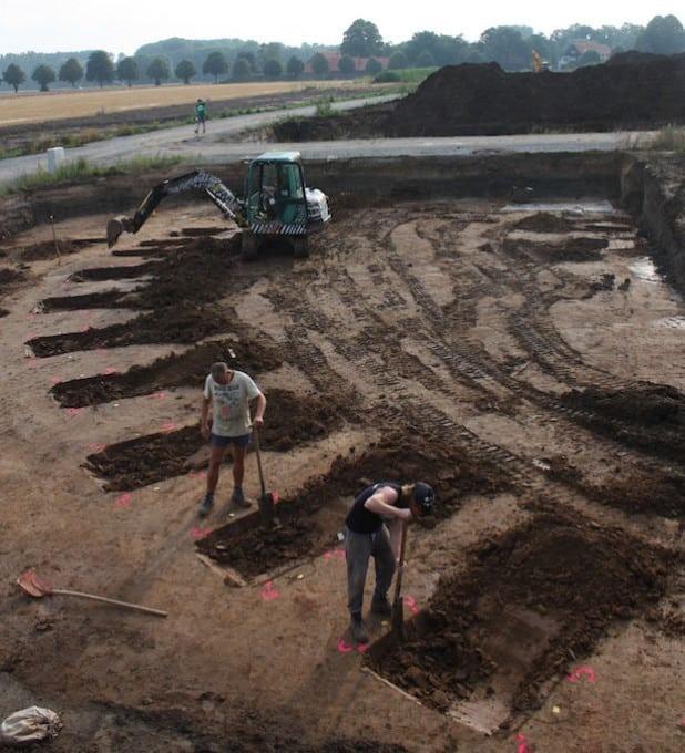 Eine echte Rarität sind die runden Zäune der steinzeitlichen Siedler (Foto: LWL/Kempken)