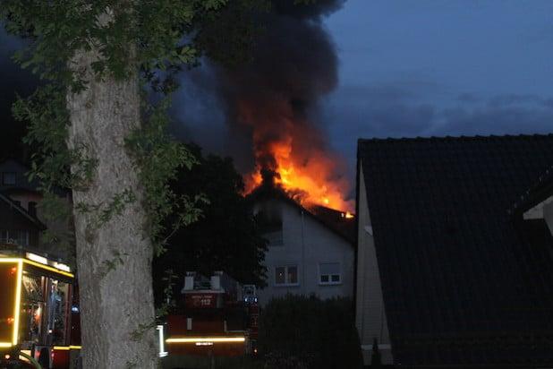Brand eines Wohnhauses in Wenden-Gerlingen (Foto: Kreispolizeibehörde Olpe)