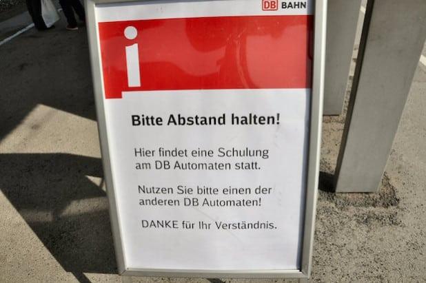 Für die Zeit der Schulung ist ein Fahrkartenautomat für die Teilnehmer reserviert (Foto: Stadt Lippstadt).