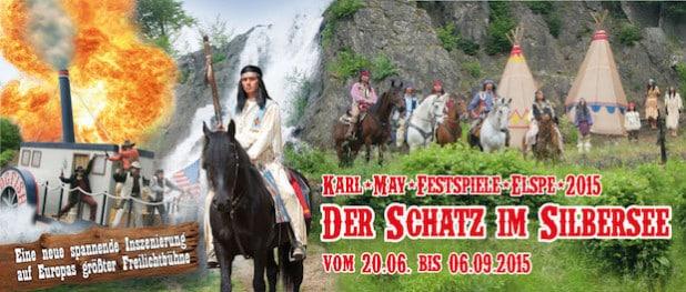 Der Schatz im Silbersee wird auf der Freilichtbühne in Elspe gehoben. Die Jugendpflege lädt alle Interessierten ab 8 Jahren ein, am 1. Juli mit dabei zu sein (Quelle: www.elspe.de).