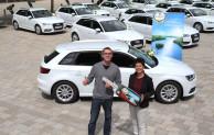Krombacher gratuliert zum Audi A3 Sportback