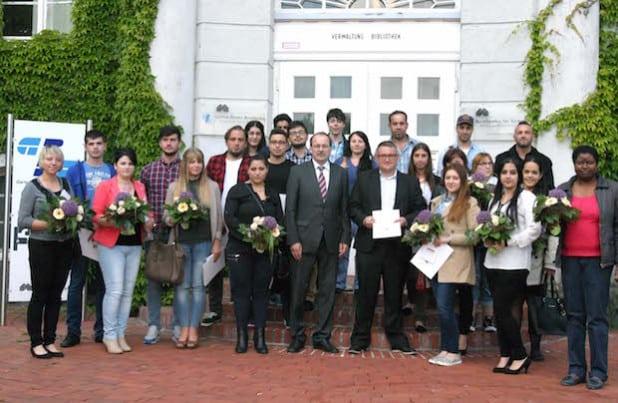 Der Landrat begrüßte 33 neue Staatsbürger/innen (Foto: Erkens/Märkischer Kreis)