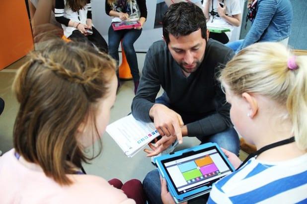 """""""App-Schnapper"""" hieß die Übung, bei der Tools und Apps zugeordnet werden mussten (Foto: Stadt Geseke)."""