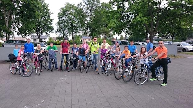 Photo of Papa-Kind-Radtour der Sekundarschule Geseke
