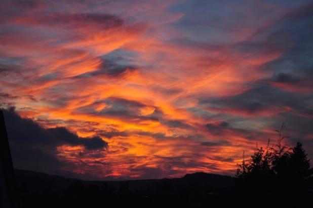 Imposantes Farbenspiel am Abendhimmel (Foto: Johanna Behrendt)