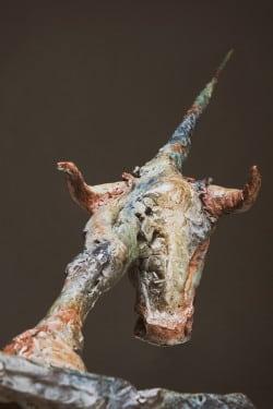 """Skulptur """"Stier"""" von Boris Sprenger, 2014, Bronze (Quelle: Projektbüro Skulptur Bredelar)"""