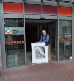 Helmut Dohrmann stellt seine Werke im Marienkrankenhaus aus (Quelle: Marienkrankenhaus Soest)